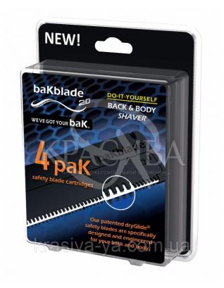 Змінні картриджі для гоління BaKblade 2.0, 4 шт. : BaKblade