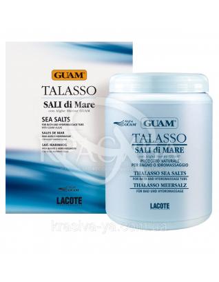 Концентрована морська сіль з водоростями Талассо, 1000 г : GUAM