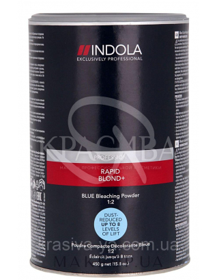 Беспылевой осветляющий порошок (голубой) Rapid Blond +, 500 г : Порошок для волос