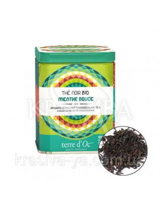TdO Органический черный чай со вкусом нежной мяты / Organic Gentle Mint Flavoured Black 100 г : Органический чай
