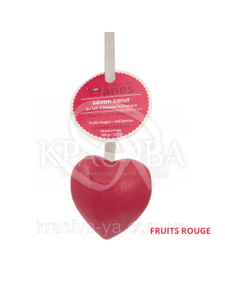 """Мыло на льняном шнурке в форме сердца Fruits Rouge """"Лесная ягода"""", 100 г"""