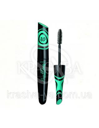 Туш для подовження вій екстра чорна волостойкая Mascara Black + Long, 9 мл