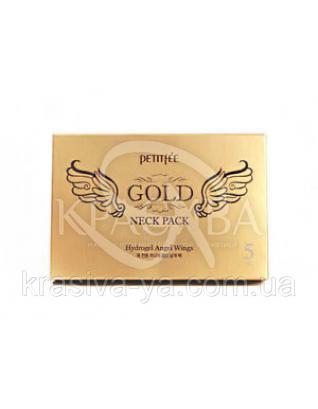 Гідрогелева маска для шиї з плацентою PETITFEE Hydrogel Angel Wings Gold Neck Pack, 10г х 5шт : PETITFEE