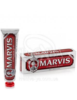 Marvis Cinnamon Mint - Зубная паста Корица - Мята, 85 мл