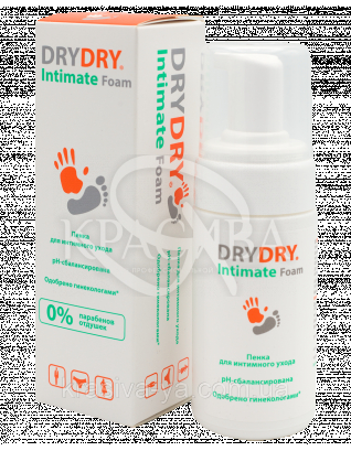 "Пена для интимной гигиены ""Драй Драй Интим Фом"" - ""DryDry Intimate Foam"", 100 мл"