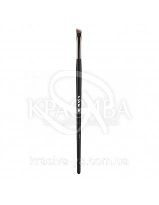 117 Eyeshadow brush, synthetic - скошена Кисть для підводки і брів, синтетика : Nastelle