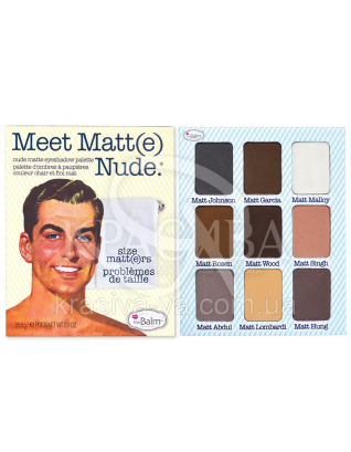 The Balm Palettes Meet Matte Nude Eyeshadow Palette - Палетка теней, 25.5 г : Палетки