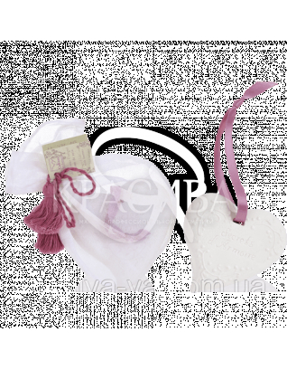 """CP Ароматизатор воздуха интерьерный в форме керамического сердца, аромат """"Льняной цветок"""" : Ароматизаторы для дома"""
