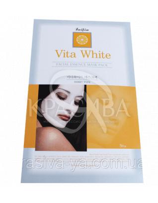 Вітамінна відбілююча маска з лимоном Faifia, 20г : Faifia