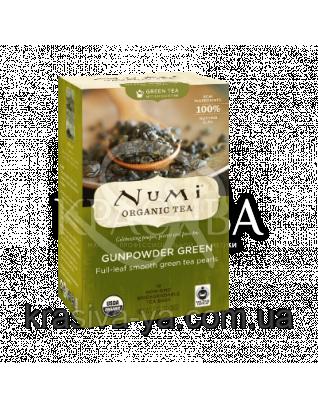 """NUMI Зеленый чай """" Ганпаудер Грин """" / Gunpowder Green, 18 пакетиков : Органический чай"""