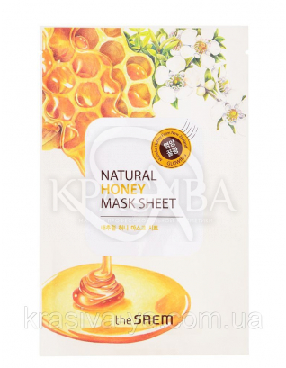"The Saem Natural Sheet - Тканинна маска з натуральним екстрактом ""Мед"", 20 мл : The Saem"