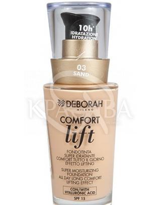 """Тональная основа для лица вельветовая """"Comfort Lift"""" 03 Sand, 30 мл :"""
