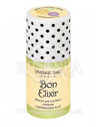 VS Bon Elixir -Масло для ногтей и кутикул с витамином А и Е, 15 мл : Масло для ногтей