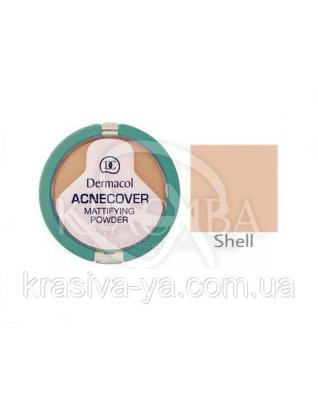 DC Make-up Acnecover Mattifying Powder 02 Shell Пудра компактна основа для проблемної шкіри, 11 г : Пудра для обличчя
