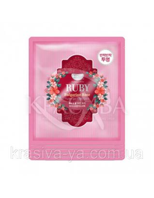 Гидрогелевая маска для лица с рубином KOELF Ruby & Bulgarian Rose Hydro Gel Mask , 30г х 2шт : KOELF