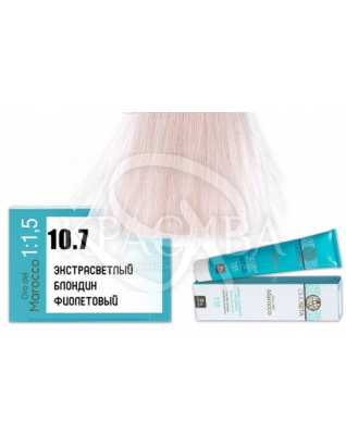 Barex Olioseta ODM-Крем-краска безаммиачная с маслом арганы 10.7 Экстра светлый блондин фиолетовый, 100 мл :