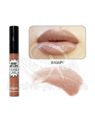 The Balm Read My Lips Lip Gloss Snap ! Warm Nude - Блиск для губ, 6.5 мл : TheBalm