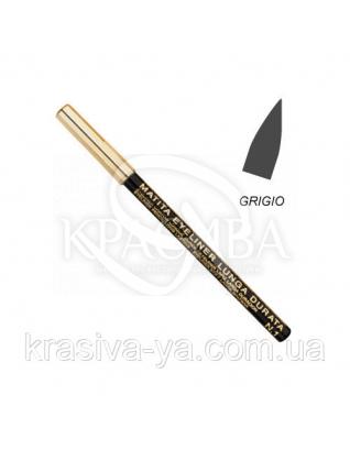 Олівець для очей стійкий Eye Liner Pencil Long Lasting Grey, 1.5 м : Layla