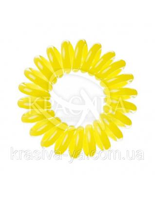 Резинка для волос желтая, 3шт : Заколки и резинки