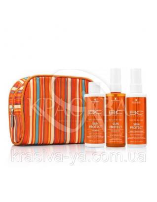 Набор BC SUN'17 (Шампунь 100 мл + Спрей-кондиционер 100 мл + Масло 100 мл + косметичка) : Beauty-боксы для волос