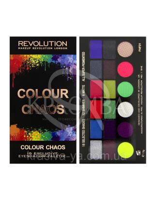 MUR Salvation Palette - Палетка из 18 оттенков теней (Colour Chaos), 13 г : Makeup Revolution