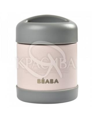 Термос для їжі рожево-сірий : Beaba