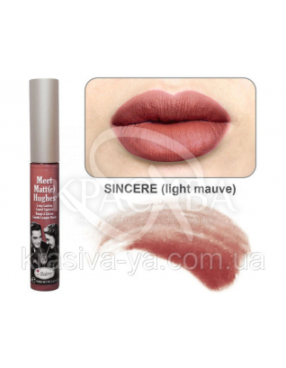 The Balm Meet Matte Hughes Sincere-Light Mauve - Рідка матова помада, 7.4 мл : TheBalm