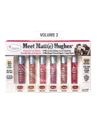 The Balm Meet Matte Hughes Mini Kit vol.2 - Рідка матова помада, 6*1.2