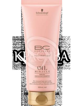 BC OM Rose Oil-in-Shampoo - Шампунь з екстрактом дикої троянди, 200 мл