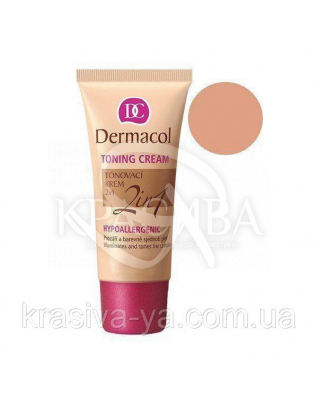 DC Make-up Toning Cream 2in1 Bronze Тональний крем легкий зволожуючий 2в1, 30 мл : Тональний крем