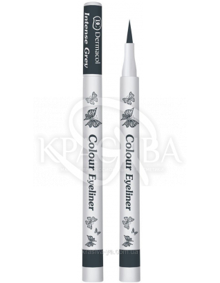 DC Make-up Colour Eyeliner 05 Intense Grey Подводка-фломастер для глаз цветная, 1 г