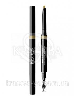 Автоматичний олівець для брів з щіткою Magic Sketch 2, 0.2 г : Nouba