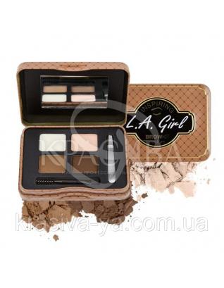 L.A.Girl GES 342 Inspiring Brow Kin Medium and Marvelous - Набор для коррекции и макияжа бровей, 3.7 г : Beauty-наборы для макияжа