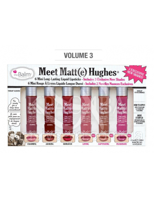 The Balm Meet Matte Hughes Mini Kit vol.3 - Рідка матова помада, 6*1.2