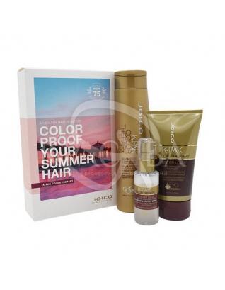 Летний набор для восстановления окрашенных волос (шампунь + маска + мультиперфектор), 300мл+140мл+50мл :