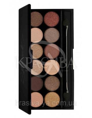 Sleek I-Divine Palette All Night Long - Палетка теней для век, 12*1.1 г : Sleek make up