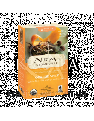 """NUMI Белый чай """" Пряный апельсин """" / Orange Spice, 16 пакетиков : Органический чай"""