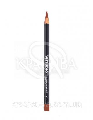 Vistudio Lip Contour Pencil - Карандаш для губ 412, 1.8 г : Контурный карандаш для губ