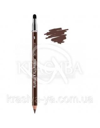 DC Make-up Kajal Eyeliner- Eyeshadow Карандаш для глаз с аппликатором (коричневый), 1.6 г