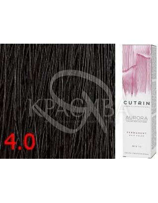 Cutrin Aurora Permanent Color - Аммиачная краска для волос 4.0 Средне-коричневый, 60 мл