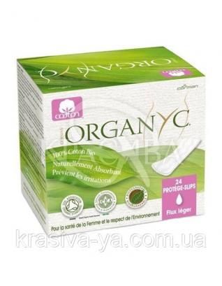 CR Ежедневные гигиенические прокладки в индивидуальной упаковке, органический хлопок, 24 шт : Прокладки ежедневные