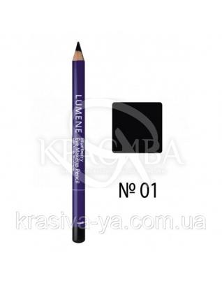 LU Blueberry Eye Makeup - Карандаш для век с черникой (01-черный), 1,1 г : Lumene