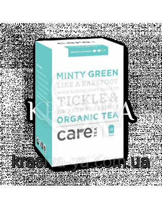 "Care Minty Green - Травяной тизан ""Мятный"" пакеты, 18 шт : Травяной чай"