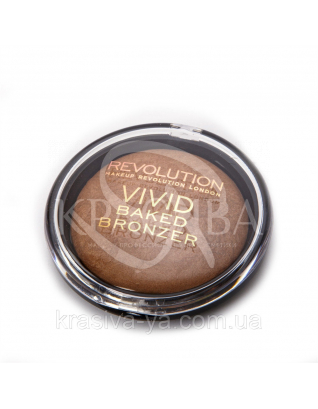 MUR Vivid Baked Bronzer - Бронзер для лица запеченный (Golden Days), 13 г : Makeup Revolution