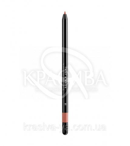 Косметичний водостійкий олівець для губ Twist & Write 51 - 1