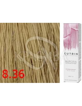 Cutrin Aurora Permanent Color - Аммиачная краска для волос 8.36 Светлый золотой песок, 60 мл