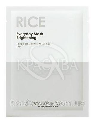 Вирівнює тон щоденна маска для обличчя Boom De Ah Dah Everyday Mask Rice, 10 шт * 25 г : Boom De Ah Dah