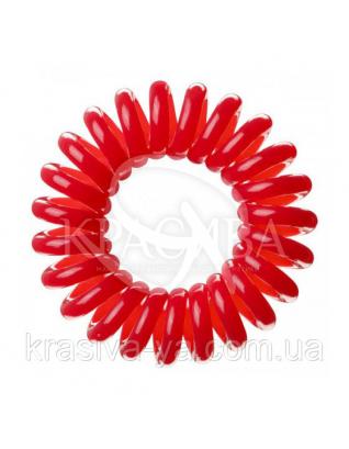 Резинка для волос красная, 3шт : Заколки и резинки