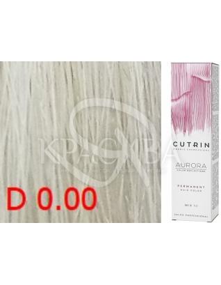 Cutrin Aurora Permanent Color - Аммиачная краска для волос D0.00 Прозрачный тон, 60 мл