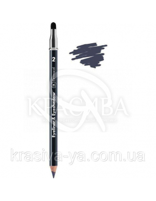 DC Make-up Kajal Eyeliner - Eyeshadow Олівець для очей з аплікатором (сірий), 1.6 м : Dermacol